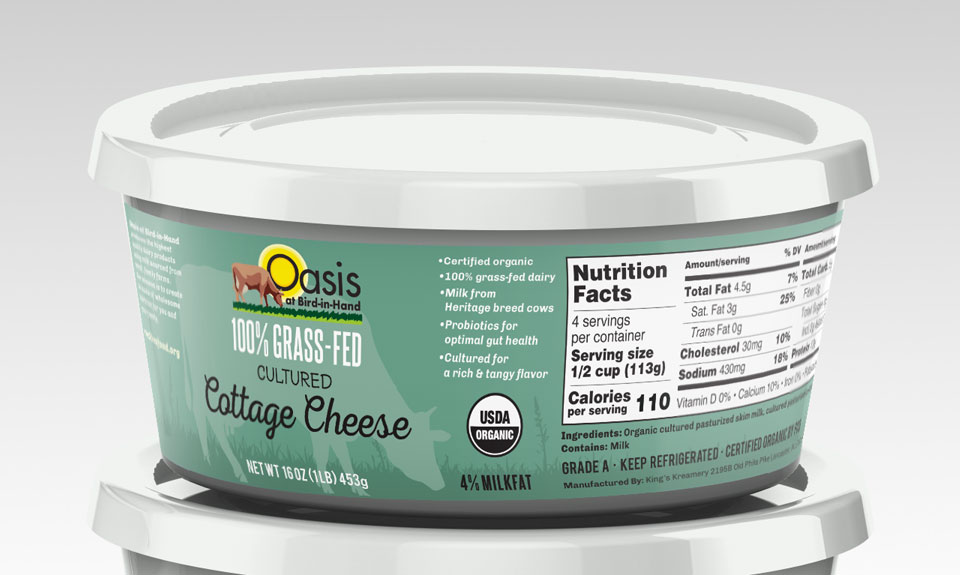 Cottage Cheese Label Design