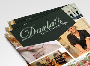 Darla's Spa & Hair Care Rack Card & Pricing Menus